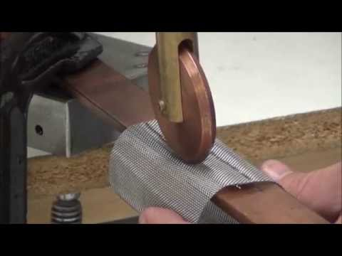 Roll Spot Weld Stainless Steel Mesh - Sunstone CD Resistance Welder and Hand Piece Attachment