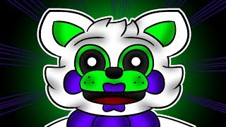 Minecraft Fnaf: Funtime Foxy Meets Mini Mangles Friend Tangle (Minecraft Roleplay)