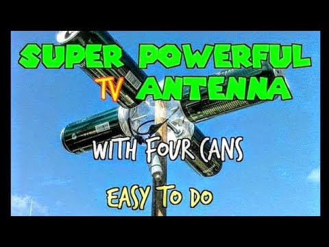 ANTENNA HDTV MANUFACTURED AT HOME * Powerful Reception *