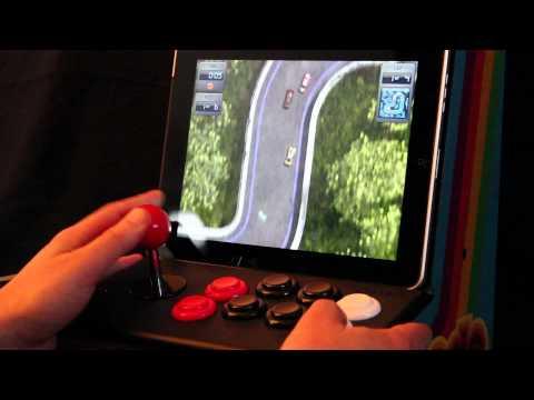 Sideways Racing for iPad, played with iCade