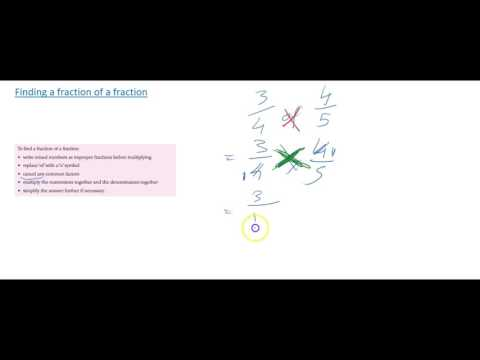 Finding a fraction of a fraction