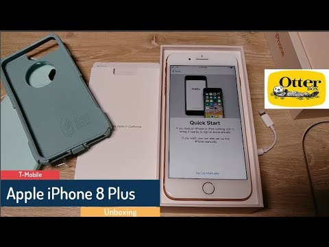 Gold Apple iPhone 8 Plus unboxing - Ocean Way Otterbox Commuter Series
