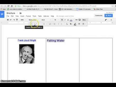 How to create brochure with Google Docs