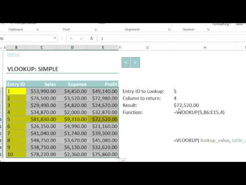 How to use MS Excel 2013 VLookup Training Video - Part One