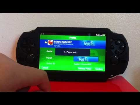 'PS VITA TUTORIAL'-How to change PSN avatar & panel