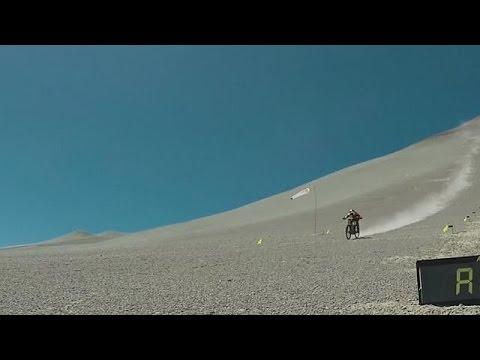 World record speed for standard mountain bikes on gravel