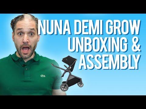 Nuna Demi Grow Stroller 2018 Unboxing & Assembly | Nuna double stroller