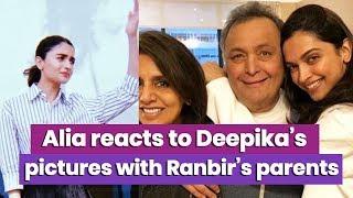Alia Bhatt reacts to Deepika Padukone's Pictures with Ranbir Kapoor