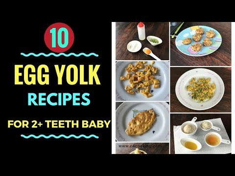 10 Egg-yolk Breakfast/Snack Weightgain recipe ideas ( for 2+ teeth baby & toddlers )