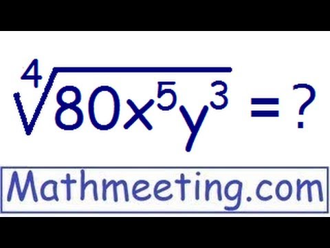 Simplifying radicals - High powered roots