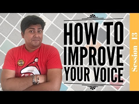 Radio Jockey training hindi - How to improve your voice - how to improve voice quality - Session -13