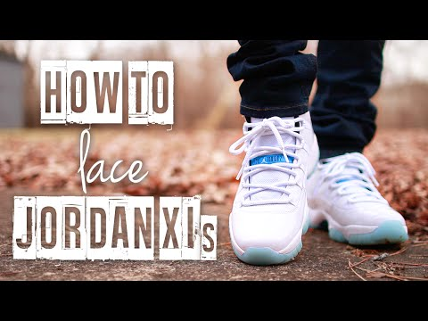 How To Lace Jordan 11's (4 Ways) | Featuring