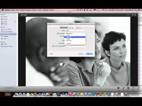 How to make images smaller on Mac using iPhoto