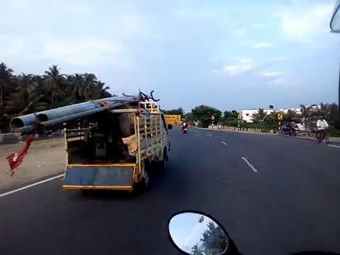 tvs bike ride on highway at tamilnadu with ashok joshi delwan