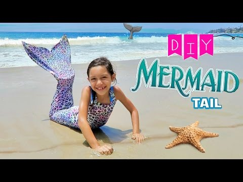 HOW TO MAKE A SWIMMABLE MERMAIL TAIL EASY AND CHEAP