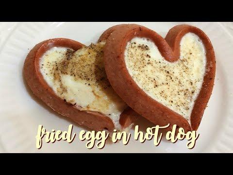 Fried Egg in Hot Dog