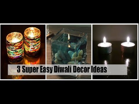DIY: 3 Quick & Easy Diwali Room Decoration Ideas 2017 | DIY Home Decoration