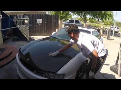 How to fix carbon fiber hood.