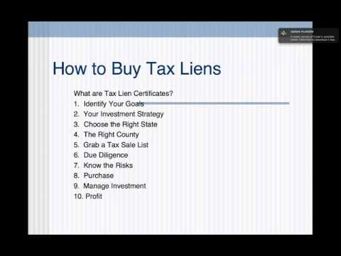 How to Buy Tax Liens and Tax Lien Certificates