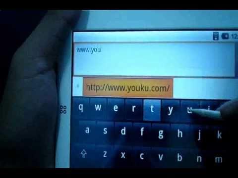 SMARTQ T7 Internet surfing demo