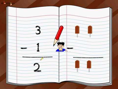 Maths - Single Digit Subtraction - English