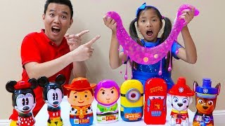 Download Wendy Pretend Play Mixing Slimes & Fun Slime Challenge Video