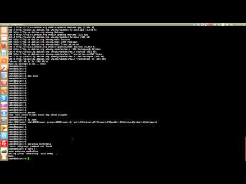 Debian Users and Groups and what is sudo