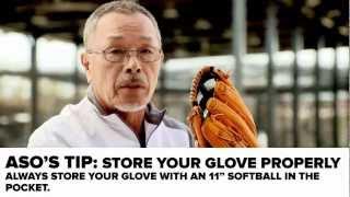 Breaking in an Outfield Baseball Glove