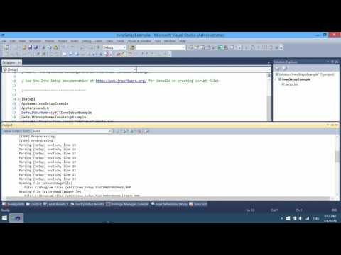 Inno Setup installers in Visual Studio