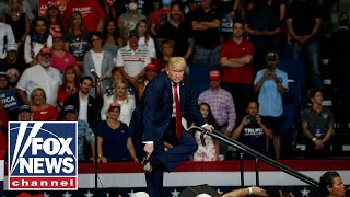 Trump torches media coverage of West Point ramp walk in fiery rant at rally