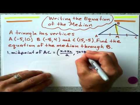 Writing the Equation of a Median