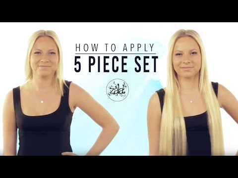 How to apply ZALA 5 piece set of clip in hair extensions