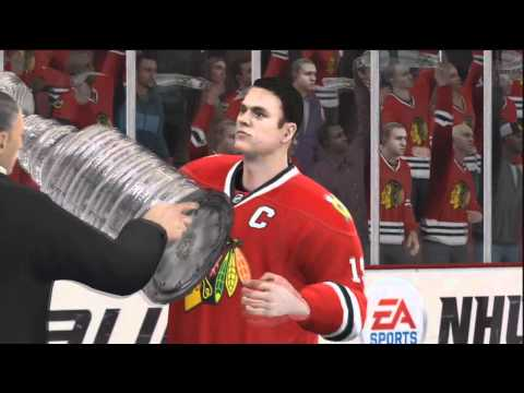 NHL 11 Chicago Blackhawks Win the Stanley Cup (HD)