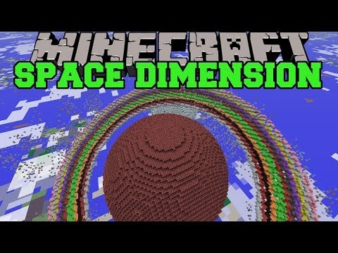 Minecraft: SPACE DIMENSION (PLANET CREATION, STARS, & CRAZY GRAVITY) Mod Showcase