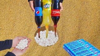 Эксперимент: Кола, Фанта, Пепси, и Ментос под Землей