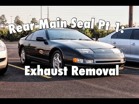 RUSTED STUDS! 300ZX Rear Main Seal Replacement Part 1: Exhaust