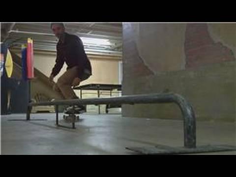 Skateboarding Tricks : How to Grind a Rail on a Skateboard
