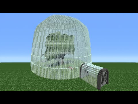 Minecraft Tutorial: How To Make Sandy's Tree House And Tree Dome