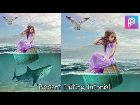 Under Water Fantasy Manipulation Effects | Picsart Editing Tutorial - Amazing Photo Editing