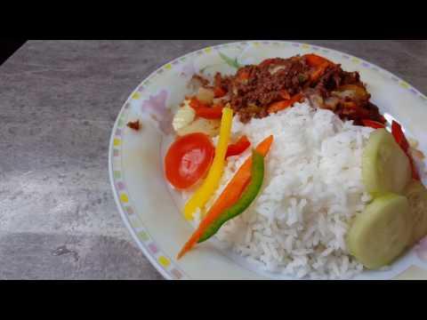 Fry Corn beef and  potatoes Guyanese Style