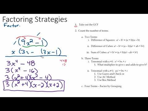All The Factoring Strategies You'll Need