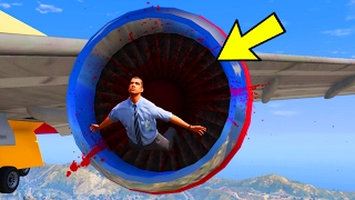 CAN YOU GET SUCKED INTO AN AIRPLANE ENGINE IN GTA 5?