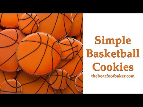 How to Make Simple Basketball Cookies | The Bearfoot Baker