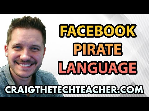 How To Change Facebook Into Pirate Language Mode ARG!