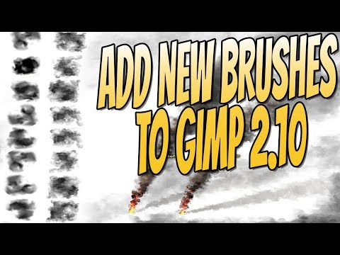 How To Install New Brushes To GIMP 2.10 Tutorial   ADD NEW BRUSHES TO GIMP 2.10