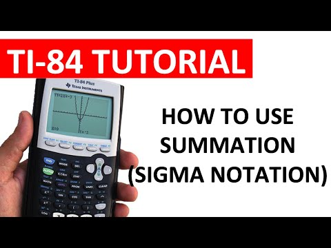 Summation (Sigma) Notation on the TI-84 Graphing Calculator