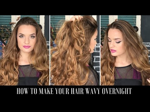 HOW TO MAKE YOUR HAIR WAVY OVERNIGHT - HEATLESS & SIMPLE TUTORIAL