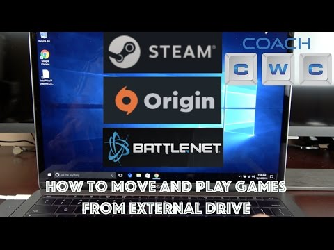 How to Play Games on External Drive - Steam, Origin, and Battlenet
