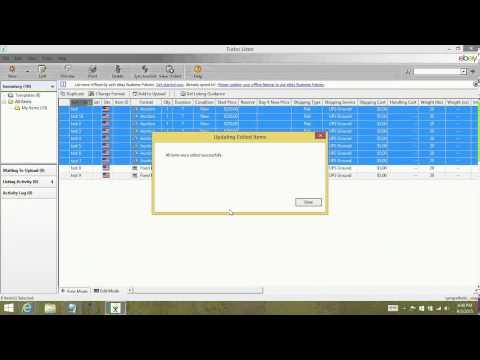 Turbo Lister - How to bulk edit items - tutorial
