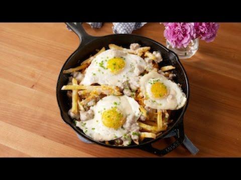 Loaded Breakfast Fries   Delish
